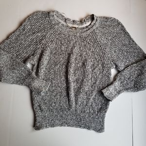 Free People Electric City Knit Sweater Gray M